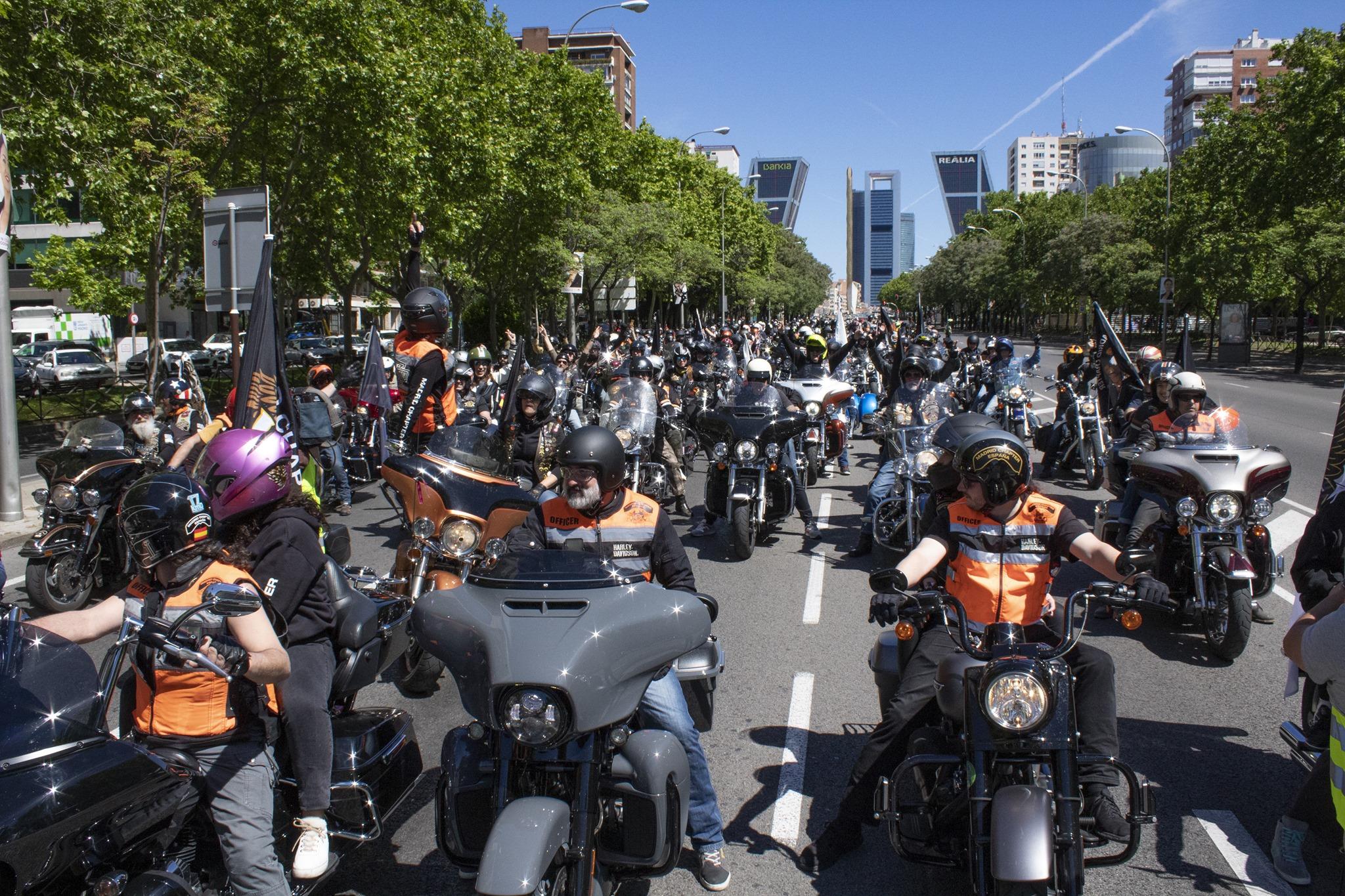 Desfile H-D por la Castellana 2019