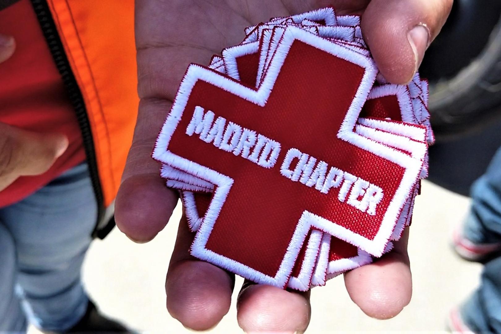 Parche especial Cruz Roja + Madrid Chapter